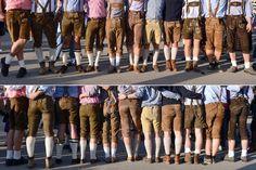 Lederhosen auf dem Oktoberfest: Kurz oder lieber lang? Socken oben oder unten?