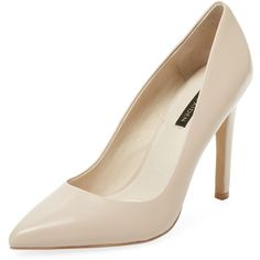 Ava & Aiden Women's Signature Pointed-Toe Pump - Cream/Tan, Size 10 (1.050.070 IDR) ❤ liked on Polyvore featuring shoes, pumps, high heel pumps, leather high heel pumps, leather pumps, tan shoes and leather shoes