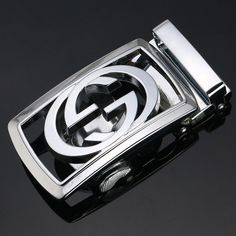 New Fashion Mens Alloy Rachet Automatic Belt Buckle for Mens Leather Belt Silver Buick Logo, Belt Buckles, New Fashion, Link, Street Styles, Clothing, Silver, Leather, Accessories