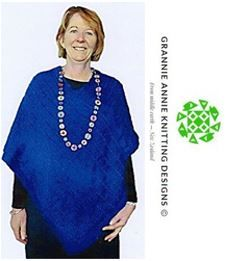 Adult Poncho knitting pattern