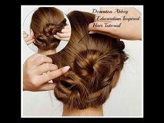 Downton Abbey / Edwardian Inspired Hair Tutorial - YouTube