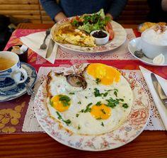Brunch at La Petite Chine, Honfleur. Eggs Our Way.
