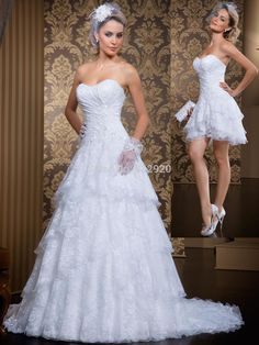 Cheap dress blanks, Buy Quality dresses office directly from China dress cc Suppliers:      2014 A-line Rendas Vestido De Noiva 2 Em 1 Lace Dress Bride Wedding Dress With Removable Skirt   1.If you wan