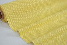 """Tissu """"Wago Jaune"""" 100% Coton vendu par multiple de 10cm : Tissus Habillement, Déco par la-mercerie-de-clementine"""