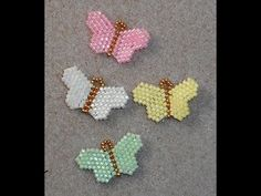 Tiny Beaded Butterflies