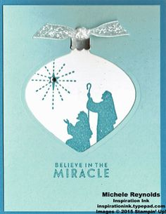 Handmade Christmas card using Stampin' Up! products - Flurry of Wishes… Christmas Cards 2017, Diy Holiday Cards, Create Christmas Cards, Stampin Up Christmas, Christmas Wishes, Xmas Cards, Handmade Christmas, November Holidays, Christian Christmas