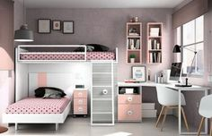 Girl Bedroom Decor Ideas Ideas For Decorating a Girls Bedroom Girl Bedroom Decor Ideas. While furnishing and decorating a girls room you must t… Twin Girl Bedrooms, Sister Bedroom, Shared Bedrooms, Girls Bedroom, 6 Year Old Girl Bedroom, Small Shared Bedroom, Small Room Bedroom, Small Rooms, Bedroom Decor