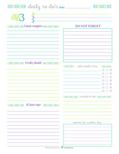 {Day 27} To Do List Printables: For Those Times When You Don't Need a Planner.
