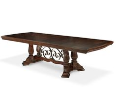 AICO Furniture - Windsor Court Rectangular Dining Table in Vintage Fruitwood - 7