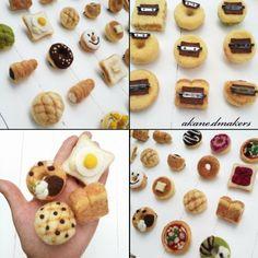 羊毛フェルト パン ブローチ メロンパン 食パン ドーナツ ハンドメイド minne Felt Crafts, Diy And Crafts, Kawaii Crafts, Needle Felting Tutorials, Felt Food, Felt Art, Miniature Food, Diy Doll, Good Food