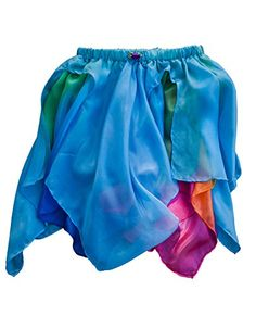 Sarahs Silks  Reversible Silk Fairy Skirt BlueRainbow *** To view further for this item, visit the image link.