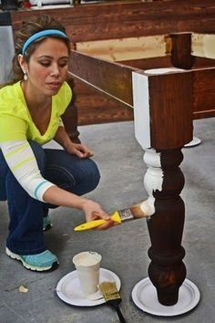 Really good tutorial How To Paint Furniture Old World Chippy Distressed Paint Finish Ana White Homemaker is part of Painted furniture - Refurbished Furniture, Repurposed Furniture, Furniture Makeover, Vintage Furniture, Modern Furniture, Kitchen Furniture, Furniture Design, Luxury Furniture, Steel Furniture