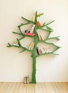Awesome tree book shelf.