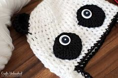 Winter is right around the corner, the perfect time to unpack my yarn and get going on some crochet patterns. Let's get started on this cute panda bear hat!