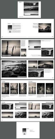 Porte folio noir et blanc Mark Voce réalisé sur in design