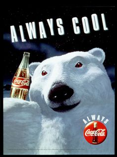#cocacola #always #cool #polarbear#cocacola #coke #soda #advertising #ad #commercial #dietcoke