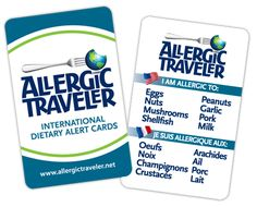10 Tips for Traveling With Your Food Allergic Child from Allergic Traveler Plus International Dietary Alert Cards in over 17 languages