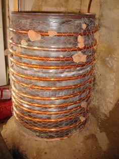 Rocket stove - Poêle rocket | Re : Installation et raccordement d'un chauffe-eau dans le rocket - ecologie-pratique.org