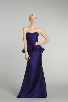 Peplums! The strangest named trend seen in a while, but you can't deny they are flattering and stylish, and here to stay for 2013. This Monaco Blue peplum dress would be a perfect choice for maids.