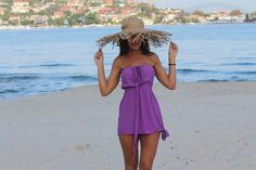 The Barbados Mini New available in 4 colours at www.bytempest.com This colour pop purple is perfect for a summer essential piece.  Model; @EmmaRoseOfficial Size; 0