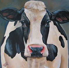 Cow Paintings - Honey by Laura Carey