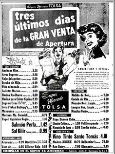 1957 - Supermercado - Anuncio publicado en el Informador Guadalajara, Jalisco México