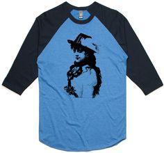 theIndie Fancy Gypsy  (Black) 3/4-Sleeve Raglan Baseball T-Shirt