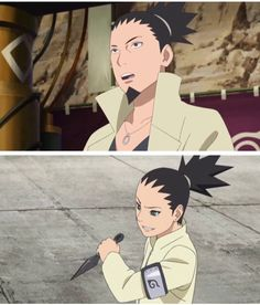 Shikamaru and Shikadai Nara Anime Naruto, Kakashi, Naruto And Shikamaru, Naruto Art, Shikadai, Shikatema, Naruto Family, Boruto Naruto Next Generations, Nara