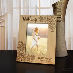 Wedding Flowers Customizable Bouquet Picture Frame