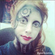 Steampunk Lady #facepaint #bodyart #makeupbymarley #steampunk
