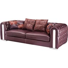 Full Leather Sofa #leathersofa #sofa  #furniture #livingroomfurniture