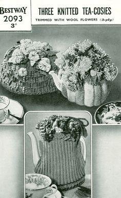 vintage knitting pattern tea cosy