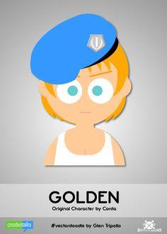 """GOLDEN"", original character by Corda. #VectorDoodle by Glen Tripollo"