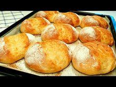 Το πιο νόστιμο ψωμί από απλά υλικά, New Bread Recipe. ψήστε ψωμί μόνοι σας - YouTube Bread Recipes, Cooking Recipes, Pizza Oven Outdoor, Bread Rolls, How To Make Bread, Bread Baking, Baked Goods, Breakfast Recipes, Easy Meals