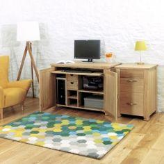 aston oak hidden home office chadwick satin lacquered oak hidden home