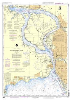 NOAA Nautical Chart 14832: Niagara Falls to Buffalo