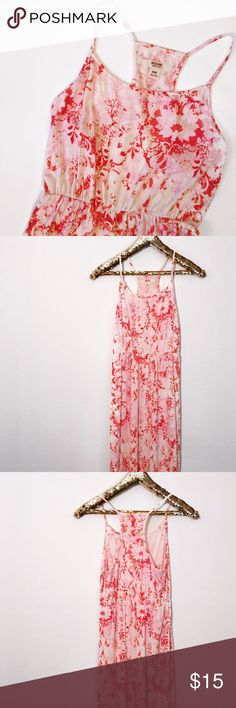 "Mossimo Pink Maxi Dress This beautiful pink maxi dress by Mossimo is so feminine and stylish! It has a cute crochet detail towards the bottom. It is new without tags and has never been worn.  Length: 57.5"" Bust: 33"" Waist: 24"" (Stretchy) Hip: 38"" Mossimo Supply Co Dresses Maxi"
