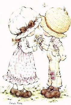 sarah kay remember this picture on my my bed sheets! Holly Hobbie, Creative Pictures, Cute Pictures, Little Boy Drawing, Sara Kay, Dibujos Cute, Valentines Art, Decoupage Paper, Coloring Book Pages