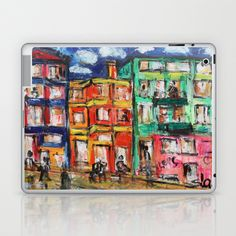 Happy Street Laptop & iPad Skin by sladja - $25.00 Laptop Skin, Nintendo Consoles, Ipad, Street, Happy, Ser Feliz, Walkway, Being Happy