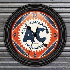 ALLIS-CHALMERS Farm Tractor Retro-Style Decorative Wall Clock on Etsy, $19.95