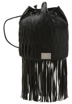 Cheap Monday IMPACT Torebka worek z długimi frędzlami black