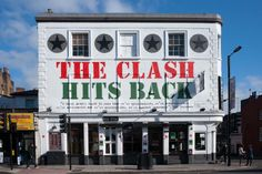 The Clash mural for Sony Music on the Camden Barfly  http://www.youtube.com/watch?v=DmT1bhkuXOE&list=PLF6f7sr7y6datEVraeWR1rvMSBrhtpvuK&feature=c4-overview-vl