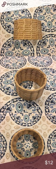 Bangle Basket- style. Slips on wrist. Jewelry Bracelets