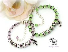 Flower Girl Bracelet, Personalized Little Girl Gift, Flower Girl Gift, Flower Girl Jewelry, Personalized Flower Girl Bracelet, Baby Bracelet | KyKy's Bridal, Handmade Bridal Jewelry, Wedding Jewelry
