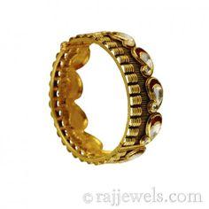 22K Gold Antique Bangle (Kada)