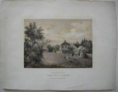 Hartmanshof-Nymphenburg-Muenchen-Orig-Lithographie-1835-C-A-Lebschee
