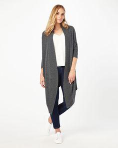 Cassia Longline Cardigan in Navy | Knitwear & Outerwear Inspo ...