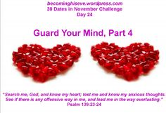 Guard Your Mind, Day 24 of 30 Dates in November Challenge from Becoming His Eve