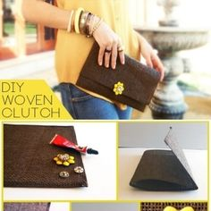 DIY clutch bag from a placemat.