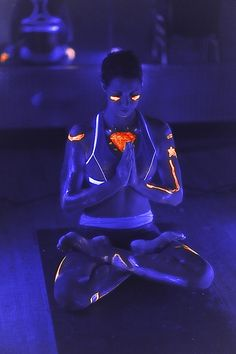 Glow in the dark yoga? Um, what do you think?